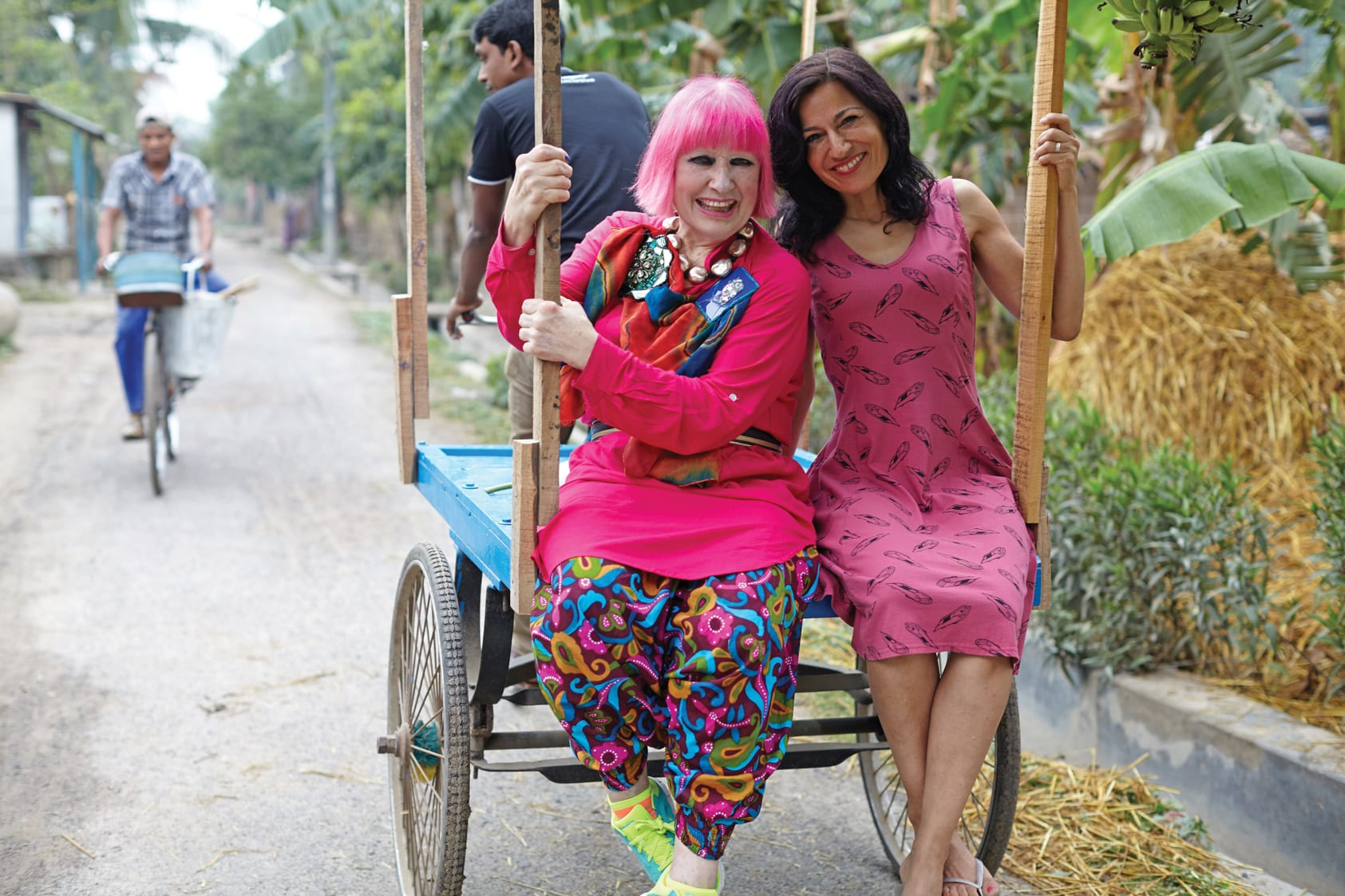 Safia and Zandra Rhodes